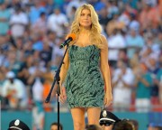 Fergie performs the National Anthem prior to the Miami Dolphins vs the New England Patriots NFL game, 12 September, x14