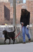 Энн Хэтэуэй, фото 5960. Anne Hathaway 'Walking her dog in Brooklyn', february 5, foto 5960