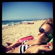 Christine Lakin - wearing a bikini at a beach 08/26/12 Twitpic